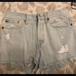 Levi's 501 High Wasted Jean Shorts Size 27